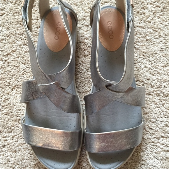 0f57abc551c7 Ecco Shoes - ECCO Damara Strap Sandal silver