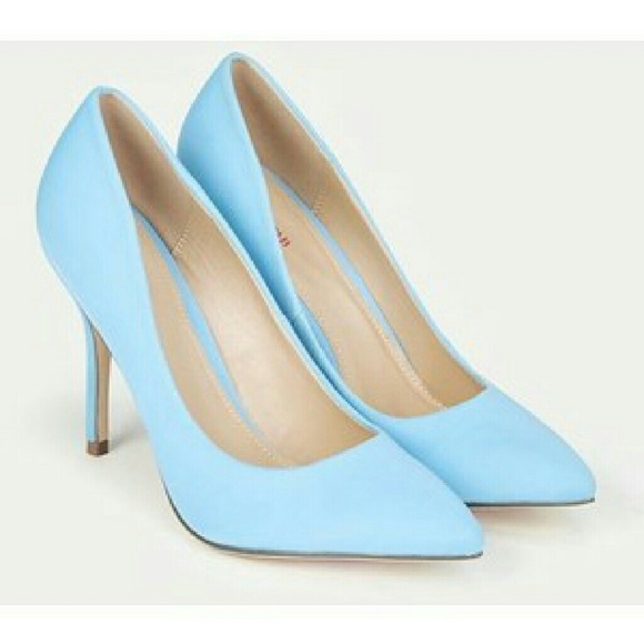 44% off JustFab Shoes - NWT Pastel Blue Pointy Toe Stiletto Heel ...
