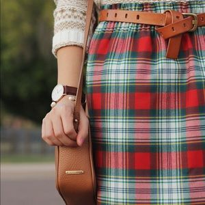 J. Crew Factory Skirts - Red and Green Plaid Skirt