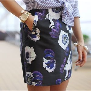 J.Crew floral print mini skirt with pockets!