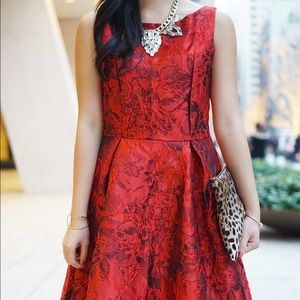 Chicwish Dresses - Red Floral Midi Dress