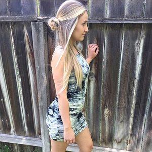 Tie Dye Mini Bodycon Dress