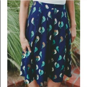 ModCloth Dresses & Skirts - Modcloth lovebird skirt