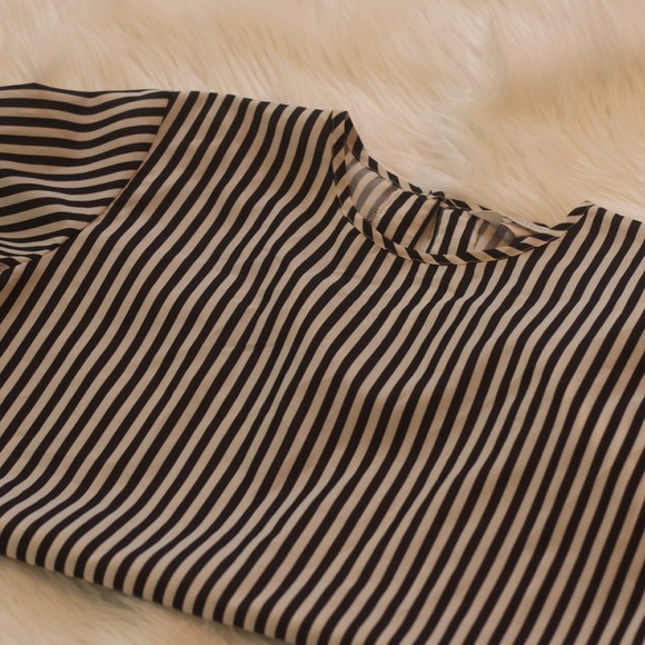Blair boutique Tops - Vintage Black and white striped shirt (medium)