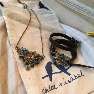Chloe and Isabel bracelet/choker & necklace set!
