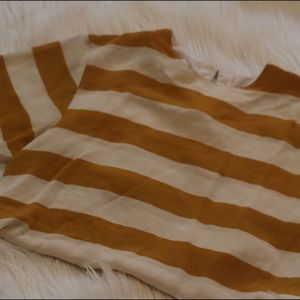 Sunny Leigh Tops - Vintage Mustard and cream striped shirt (medium)