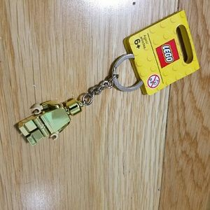 Other - Gold Lego Keychain