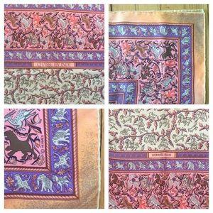 Hermes Accessories - Hermes Chasse en Inde Silk Scarf Pink/Lavender