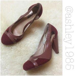 90 pink studio shoes mauve maroon burgandy tweed
