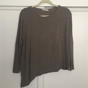 Zara asymmetrical long sleeve top