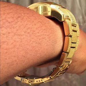 e69163877 Aqua Master Accessories - Aqua Master Diamond Gold Bubble Face Watch