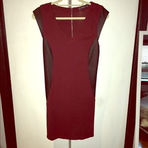 TART Sleeveless Dress with Leather Piecing