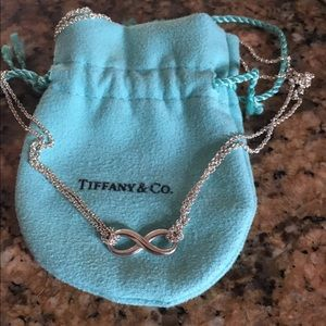 Tiffany&Co double stranded infinity necklace