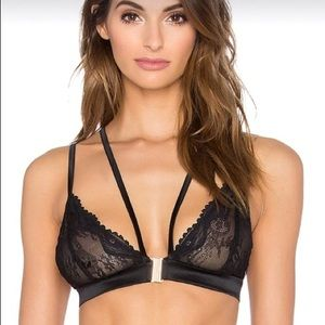 Nasty Gal Other - Brand new strappy lace bralette with gold buckle
