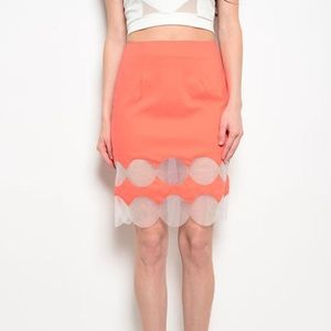 Retro 70s styled Neon skirt