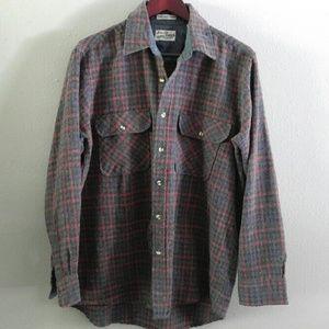 Vintage Sears Roebuck Wool Blend Shirt L/XL