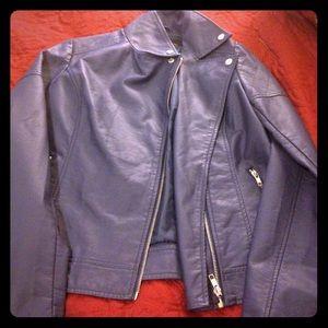 Jackets & Blazers - Blue leather jacket