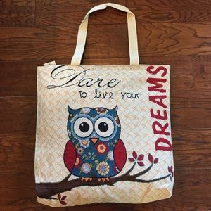 Woven tapestry Dream Owl Tote Bag