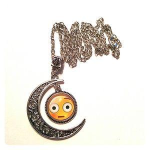 Jewelry - Emoji Crescent Moon Necklace