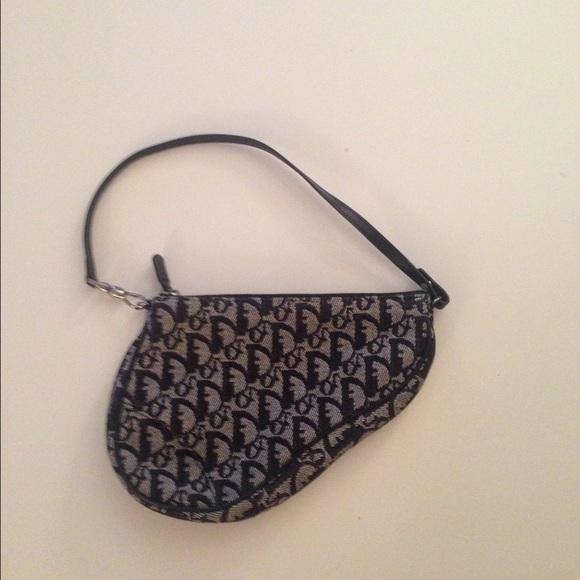 7d33d1413828 Dior Handbags - Vintage Monogrammed Christian Dior Saddle Bag
