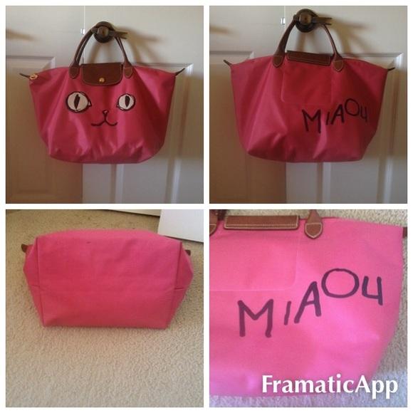Longchamp Handbags - Longchamp Pink Cat MIAOU Tote cf822a13ffb82