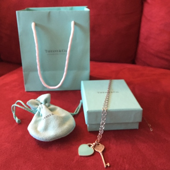 Tiffany & Co. Jewelry - Tiffany & Co. Heart and key charm chain necklace💋