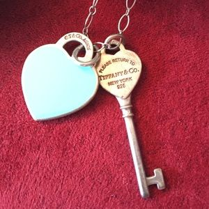 Tiffany & Co. Jewelry - Tiffany & Co. Heart and key charm chain necklace💋