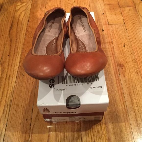 e76c967602c Hush Puppies Chaste Ballet flats cognac leather