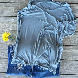 Forever 21 sky blue long sleeve  shirt
