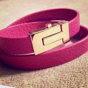 Tory Burch Jewelry - TB Wrap Skinny Tpin Lock Bracelet
