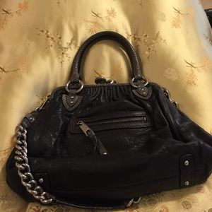 Marc Jacobs black snake skin and metal purse