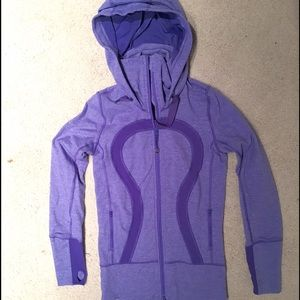 Lululemon purple zip up