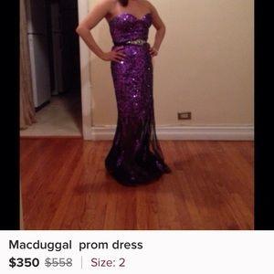 Size 2 Mac duggal dress got it shorten