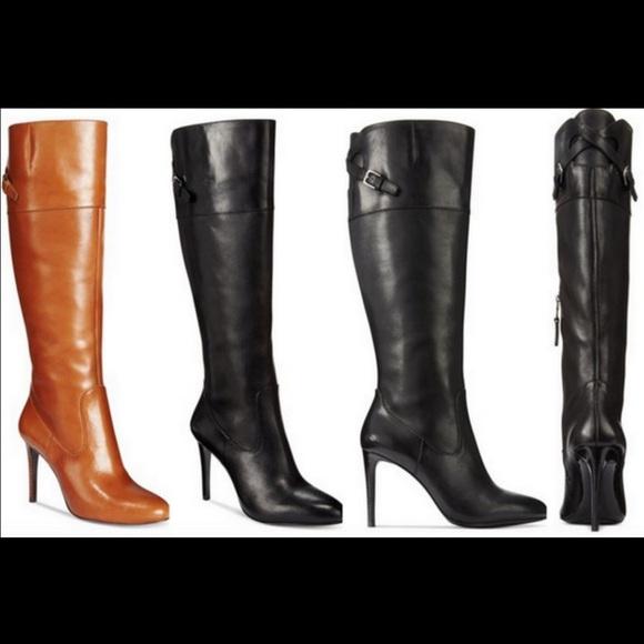 Lauren by Ralph Lauren Brown Cognac Valerie Knee High Boots