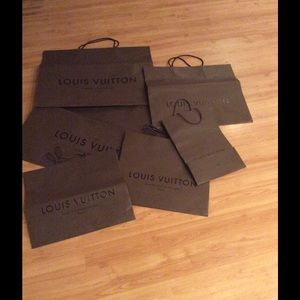 Louis Vuitton-  Shopping bags 6 med, Lg and Xl