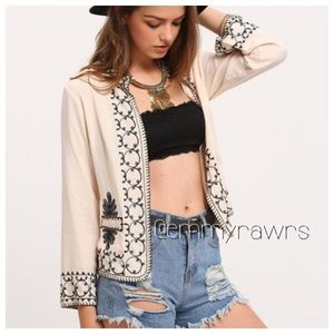 New Embroidered Open Jacket