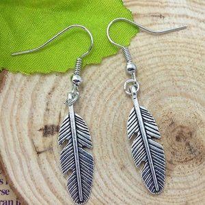 Jewelry - Silver Feather Earrings