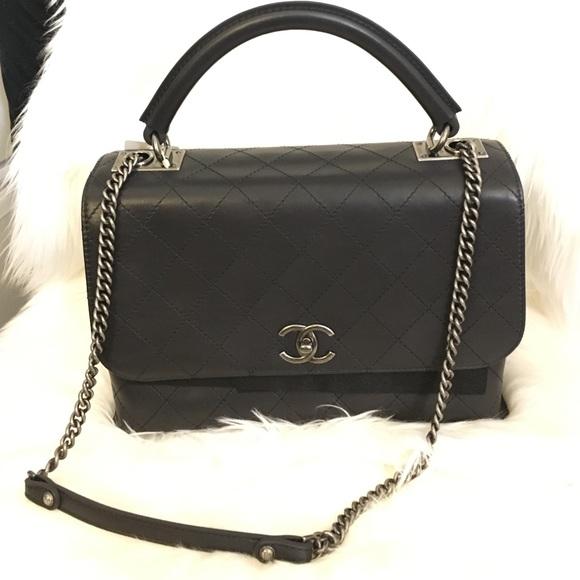 828b8062ab0a75 CHANEL Bags | Handle Flap Bag With Cross Body Chain | Poshmark