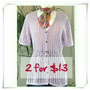 Sag Harbor Sweaters - 💛🎀 SALE 🍎☘ V neck cardigan with short sleeves??