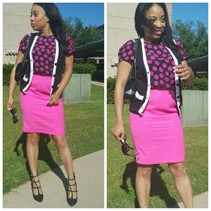 Pink and Black Escada Set