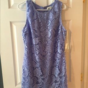 Lavender lace dress with scalloped bottom