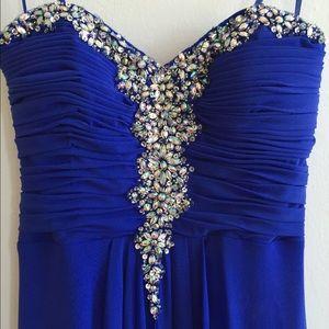 Blondie Nites Dresses & Skirts - Sale!!Beautiful Royal Blue Prom Dress/ gown