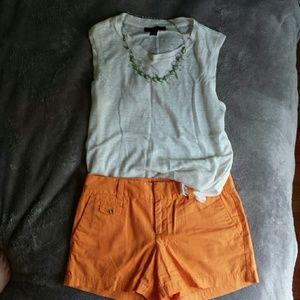 Ann Taylor Orange Cotton  Shorts