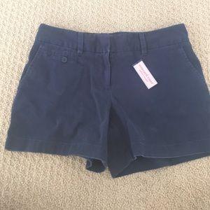 Navy Blue Cotton Shorts