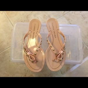 Ivanka Trump Shoes Light Pink Bow Studs Sandals Poshmark