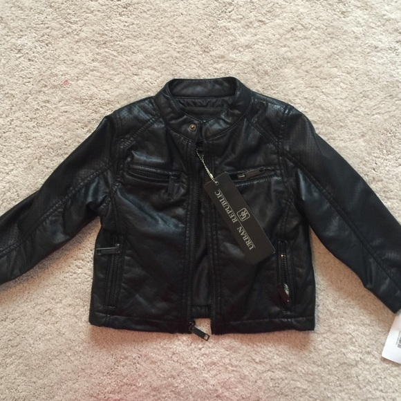 c99fe8f5c96 Urban republic leather jacket toddler 3T