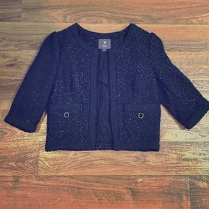 Black Sparkly Forever 21 Tweed Crop Jacket!