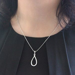 Lia Sophia Jewelry - Lia Sophia Silver Loop Pendant Necklace