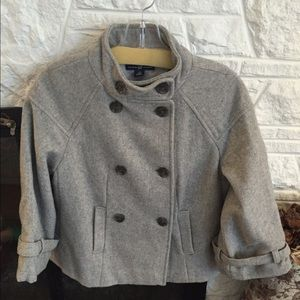 Gap wool short 3/4 sleeve jacket