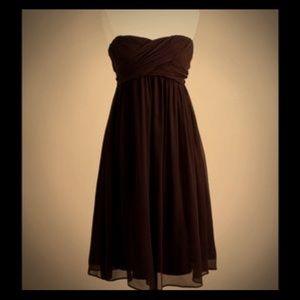 🆕 $220 J. Crew brown strapless Taryn dress